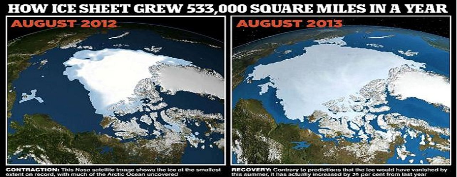 A chilly Arctic summer has left 533,000 more square miles of ocean covered with ice than at the same time last year – an increase of 29 per cent. The rebound from 2012's record low comes six years...