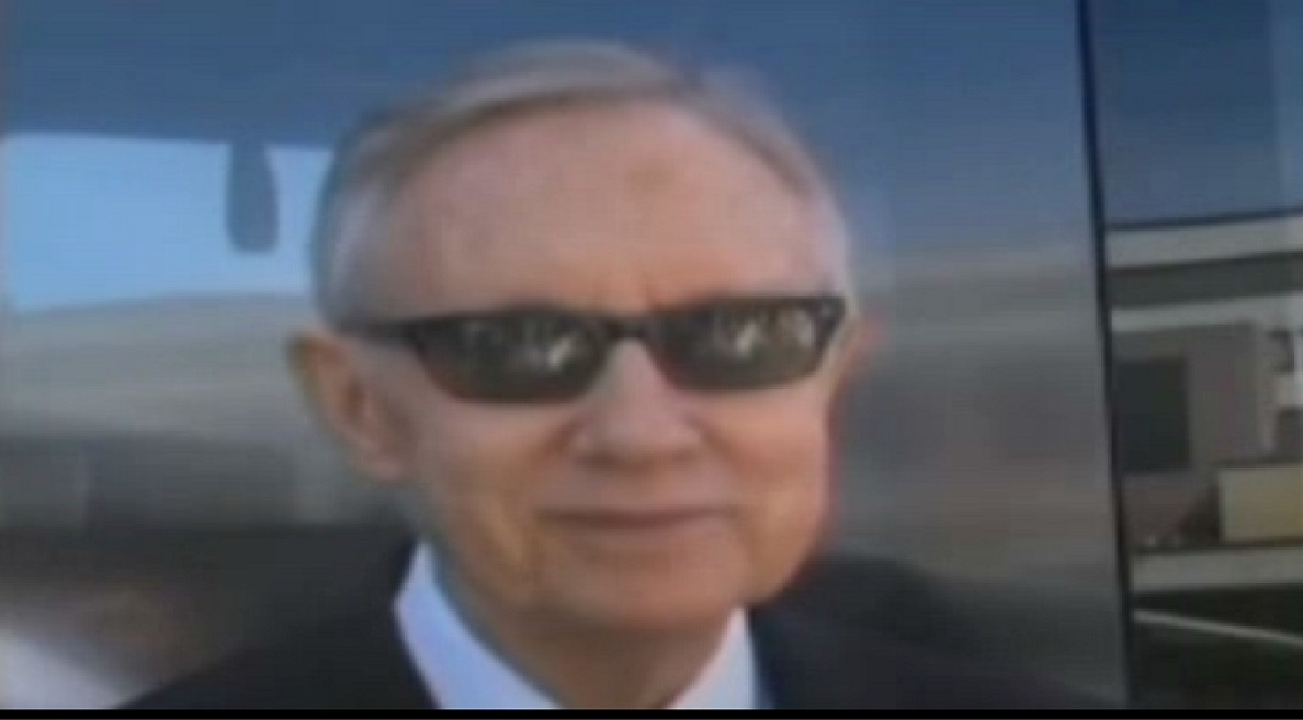 "Senator Harry Reid has escalated the war of words over the Cliven Bundy dispute, sensationally labeling the Nevada cattle rancher's supporters ""domestic terrorists"" during an event in Las Vegas..."